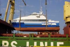 MV Nikolina on deck Hamburg-Genoa , sea passage to Croatia